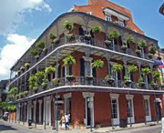 Building in French Quarter of New Orleans