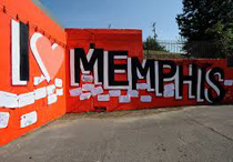 Mural on wall in Memphis, Tennessee