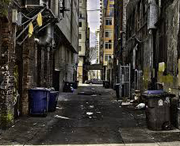 Alley in downtown Seattle, Washington